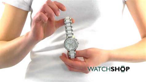 Ladies' Dkny Ceramix Ceramic Chronograph Watch (ny8181