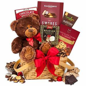 Teddy Bear & Chocolates Valentine s Day Gift Basket by