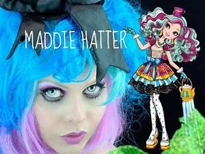 EVER AFTER HIGH MADELINE HATTER MAKEUP TUTORIAL COSPLAY ...