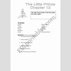 The Little Prince Chapter 12  Esl Worksheet By Smiles82
