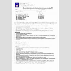 Pauta Trabajo De Investigación Historia Educ Media Docx