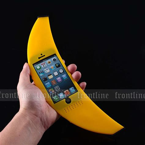 cool road to world iphone 12 inches big banana silicone sleeve cover for apple