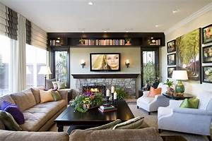 modern traditional home family room robeson design san With modern family living room design