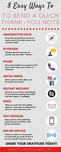 Infographic  8 Easy Ways To Send A Quick Thank