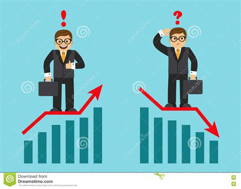 Success And Failure In Business Stock Vector