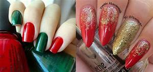Red and gold nail art ideas