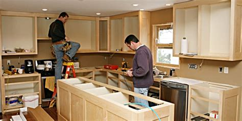 how to hang cabinets installing kitchen cabinets