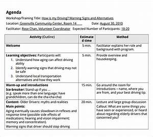 Class Schedule Outline Free 7 Training Agenda Samples In Pdf Ms Word