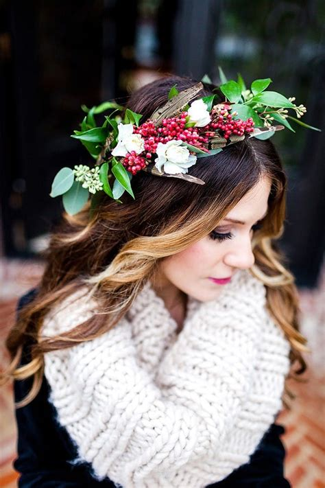 11 Beautiful Winter Flower Crowns For Your Wedding Brit Co