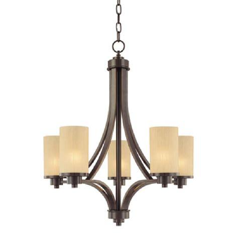 shop artcraft lighting parkdale 5 light rubbed bronze