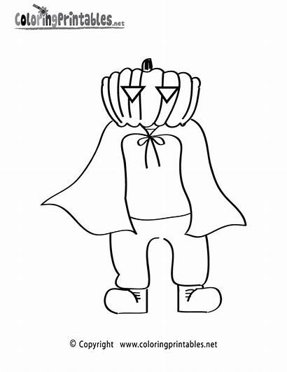 Halloween Coloring Printable Costume Pages Holiday Worksheets