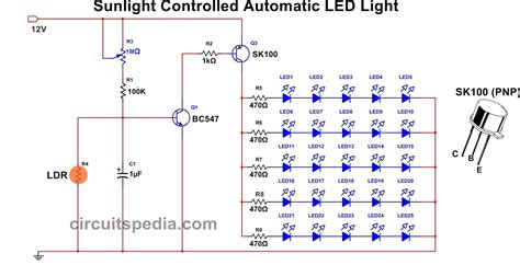Light Activated Switch Circuit Diagram Using Transistor