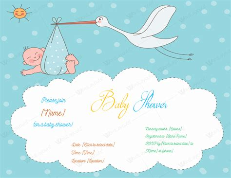 baby shower invitation template  printable designs