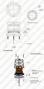 4 4 U0026quot  Amber Led Strobe Light Caged Beacon With 60 Leds