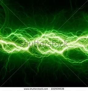 Neon Green Lightning Bolt