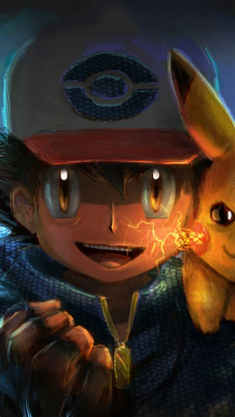 wallpaper ash ketchum pikachu pokemon artwork creative