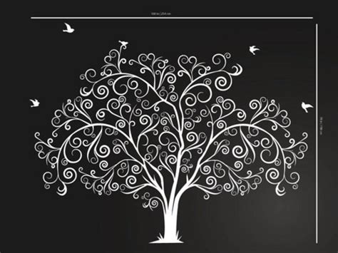 tree wall decor baby nursery large personalized family tree decal vinyl wall decal tree
