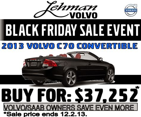 lehman volvo cars black friday sale eventyes