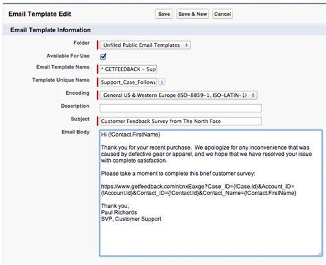survey email template distributing quot salesforce aware quot surveys
