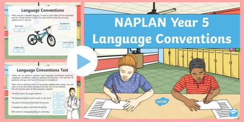 * New * Understanding Naplan  Language Conventions Year 5 Powerpoint Test