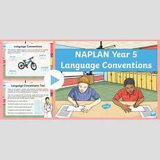 * New * Understanding Naplan  Language Conventions Year 5 Powerpoint Test