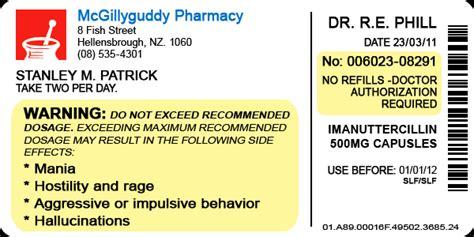 pill bottle label template pill bottle label by lastgambit on deviantart