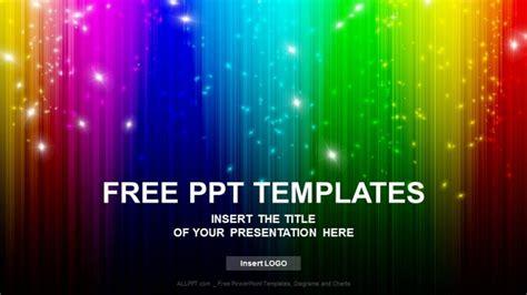 powerpoint rainbow template rainbow colors wave abstract