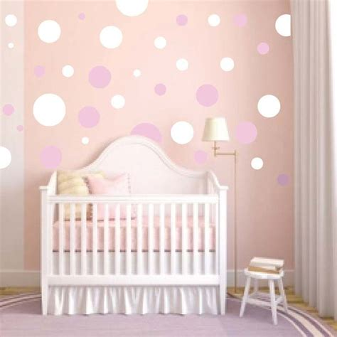 nursery polka dot wall decals trendy wall designs