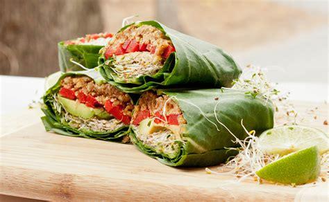vegan cuisine vegan collard wraps recipe