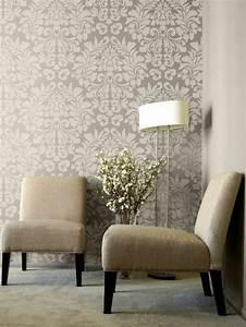 deco salon moderne chic 3 papier peint pour couloir With deco salon moderne chic