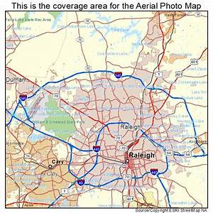 Aerial Photography Map of Raleigh, NC North Carolina