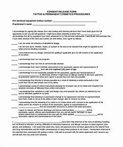 tattoo release form 9 download free documents in pdf With tattoo release form template