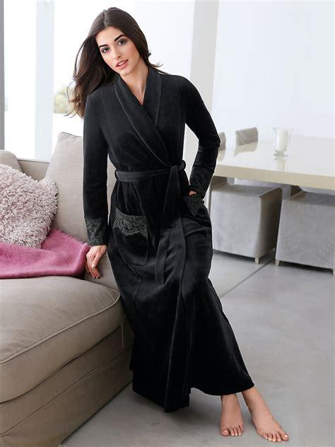 robes de chambre femme rösch nicky ochtendjas zwart