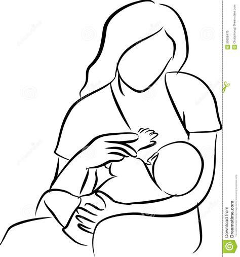 Mother Feeding Breast Stock Photography Cartoondealer