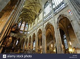 Interior of St Vitus Cathedral Hradcany Castle Czech ...