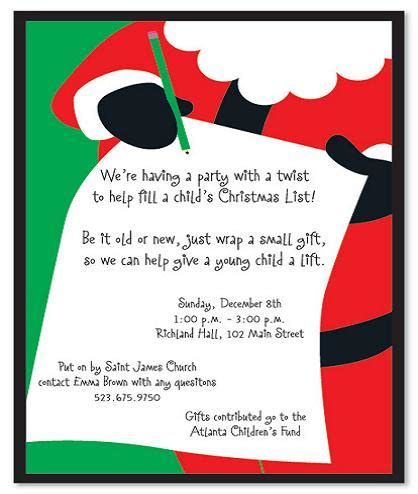 christmas party invitation wording 365greetings com