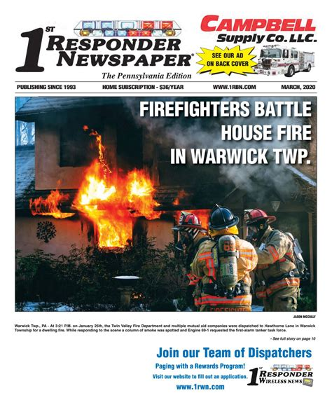 1st Responder PA March Edition by Belsito Communications