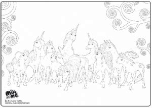 Mia And Me Free Coloring Page Unicorns