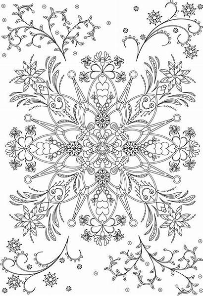 Coloring Pages Flower Mandala Vector Pattern Adult