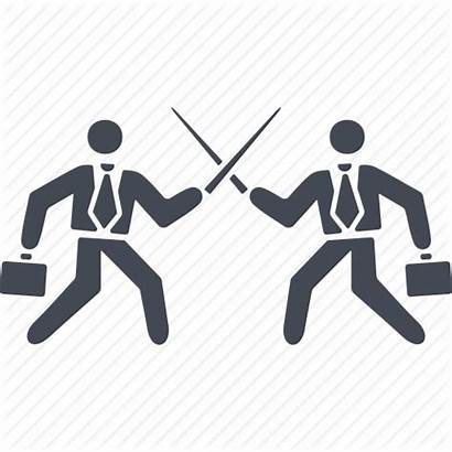 Conflict Icon Business Fighting Showdown Icons Swords