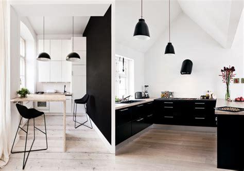 cuisine noir et blanc décoration cuisine blanc