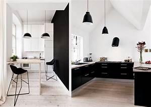 Cuisine Blanche Et Noire : 20 inspirations pour une cuisine en noir et blanc joli place ~ Nature-et-papiers.com Idées de Décoration