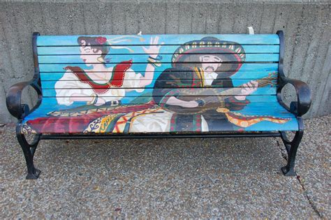 painted benches pollera org