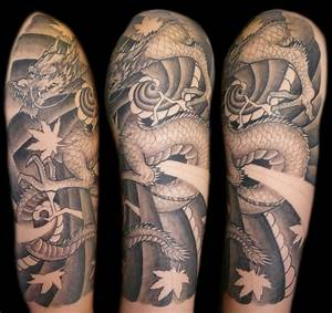 japanese dragon half sleeve by bjsxiii on DeviantArt