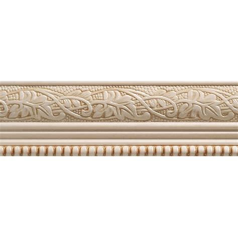 ornamental mouldings white hardwood embossed leaf