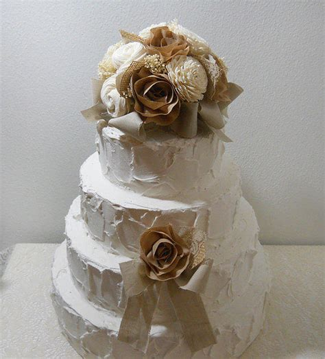 shabby chic cake topper rustic shabby chic cake topper sola from papernlace on etsy
