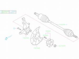 28373fl000 - Hub Complete-front Axle  Unit  Suspension  Housing  Brakes