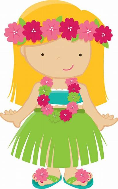 Luau Clipart Lady Hawaiian Hula Aloha Fiesta