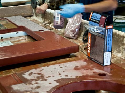 how to fill holes in concrete countertops how to fill holes in a concrete countertop concrete exchange