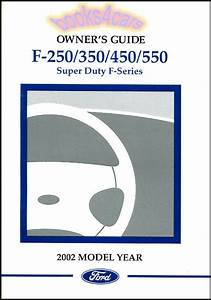 2002 Ford F250 F350 Owners Manual Book Super Duty Truck